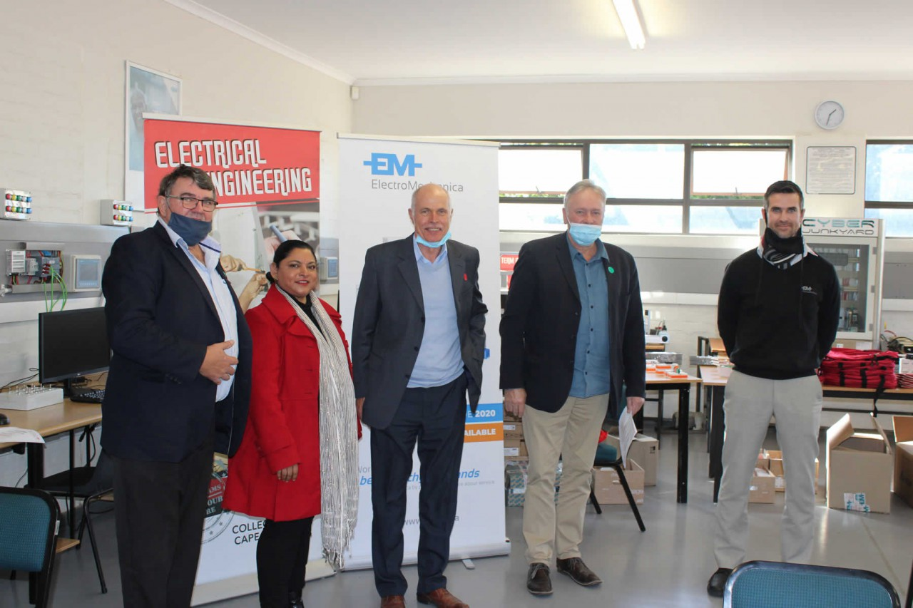 Electro Mechanica Donates Electrical Engineering Equipment to Pinelands Campus