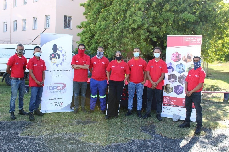 College of Cape Town's Plumbing Apprentices participate in a World Plumbing Day CSI initiative to refurbish the Holy Cross Children's Home
